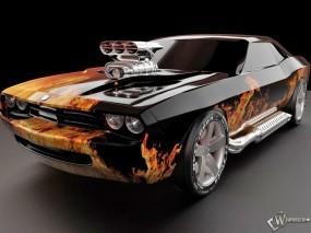 Обои Dodge Challenger: Турбина, Dodge Challenger, Тюнинг, Dodge