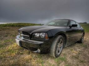 Обои Dodge: Чёрный, Dodge, Непогода, Dodge