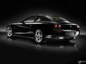 Обои Черный Ferrari: Ferrari, Ferrari