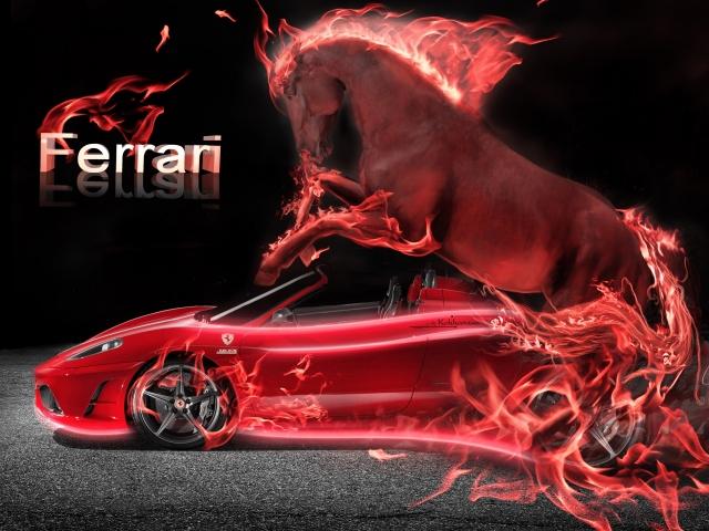 Неоновый Ferrari