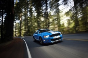 Обои Ford Shelby Mustang GT 500 blue: Ford Mustang Shelby, Ford