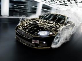 Обои Jaguar: Jaguar, Свет, Дым, Поворот, Дрифт, Jaguar