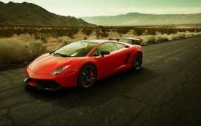 Обои Галардо: Пустыня, Асфальт, Lamborghini Gallardo, Lamborghini