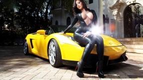 Обои Lamborghini Gallardo: Машина, Девушка, Lamborghini, Lamborghini