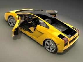 Обои Lamborghini: Желтый, Lamborghini, Lamborghini