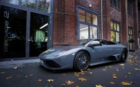 Обои Фото ламборджини осенью: Фото, Осень, Листья, Lamborghini, Lamborghini