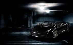 Обои Lamborghini Gallardo: Lamborghini Gallardo, Чёрная тачка, Lamborghini