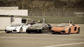 Три Lamborghini Aventador