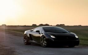 Обои Lamborghini Gallardo: Lamborghini Gallardo, Чёрная, Lamborghini