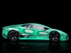 Неоновый Lamborghini