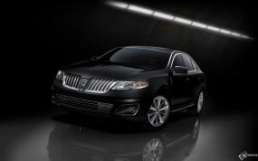 Обои Черный Lincoln MKS: Чёрный, Lincoln MKS, Lincoln