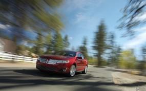 Обои Lincoln MKS на скорости: Скорость, Lincoln MKS, Lincoln