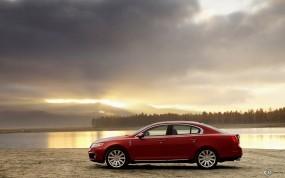 Обои Lincoln MKS: Закат, Берег, Lincoln MKS, Lincoln