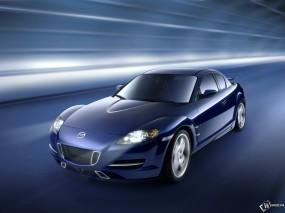 Обои Синяя Mazda RX-8: Синий, Mazda RX-8, Mazda