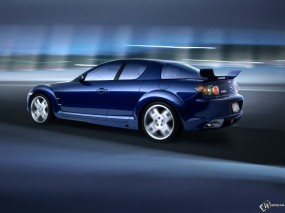 Обои Mazda RX-8: Скорость, Синий, Mazda RX-8, Mazda