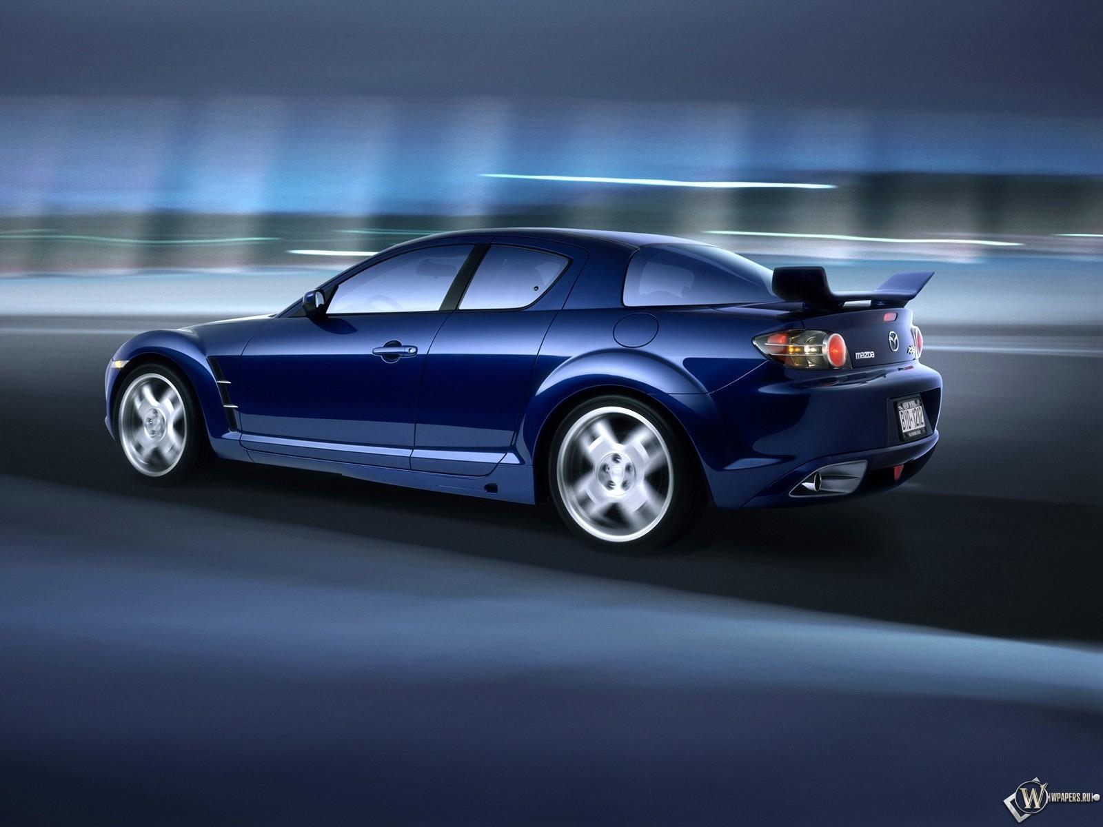 Скачать обои Mazda Rx 8 Скорость Синий Mazda Rx 8 для рабочего стола 1600х1200 4 3