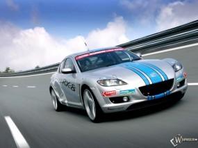 Обои Mazda RX-8 на трассе: Скорость, Трасса, Mazda RX-8, Mazda