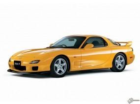 Обои Желтая Mazda RX-7: Желтый, Mazda RX-7, Mazda
