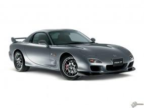 Обои Серая Mazda RX-7: Серый, Mazda RX-7, Mazda