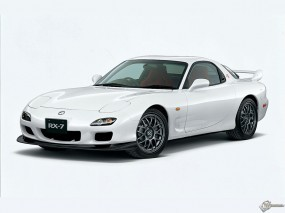 Обои Белая Mazda RX-7: Белый, Mazda RX-7, Mazda