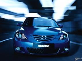 Обои Синяя Mazda 3: Синий, Mazda 3, Mazda