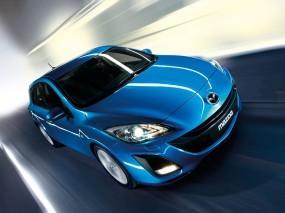 Обои Mazda 3: Синий, Hatchback, Mazda 3, Mazda