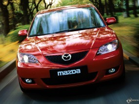 Обои Mazda 3 Sedan: Sedan, Mazda 3, Красная мазда, Mazda