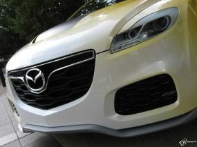 Обои Mazda CX-7 Adrenaline: Бампер, Белый, Mazda CX-7, Mazda
