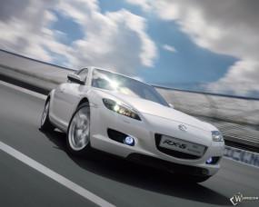Обои Белая Mazda RX-8: Белый, Mazda RX-8, Mazda
