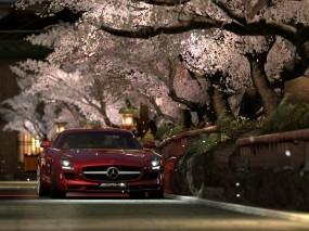 Mercedes Gran Turismo 5 и сакура