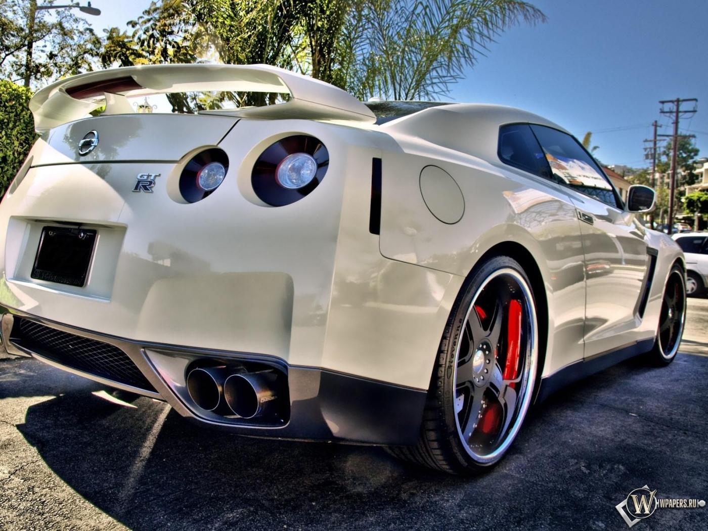 Скачать обои Nissan GT-R (Белый, Nissan GT-R) для рабочего ...