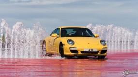 Обои Porsche 911 и фонтаны: Porsche 911, Porsche
