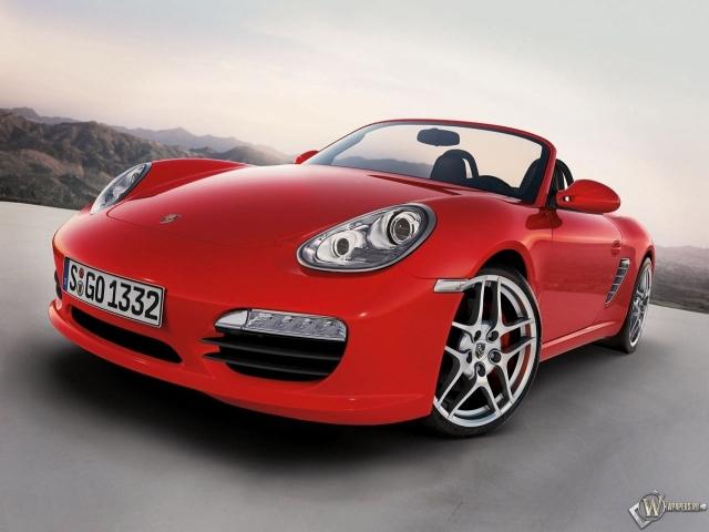 Красный Porsche Boxster
