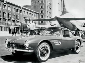 Обои BMW 507 (1956): BMW, Ретро автомобили
