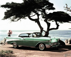Обои Chevrolet Bel Air (1957): Chevrolet, Ретро автомобили