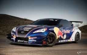 Обои Hyundai Genesis Coupe Rhys Millen Racing Red Bull: Hyundai Genesis, Спортивные автомобили