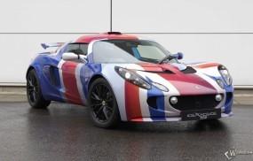 Обои Lotus Exige S (Union Jack): Lotus Exige, Спортивные автомобили