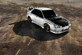 Обои Subaru impreza : Асфальт, Subaru Impreza, Тюнинг, Subaru