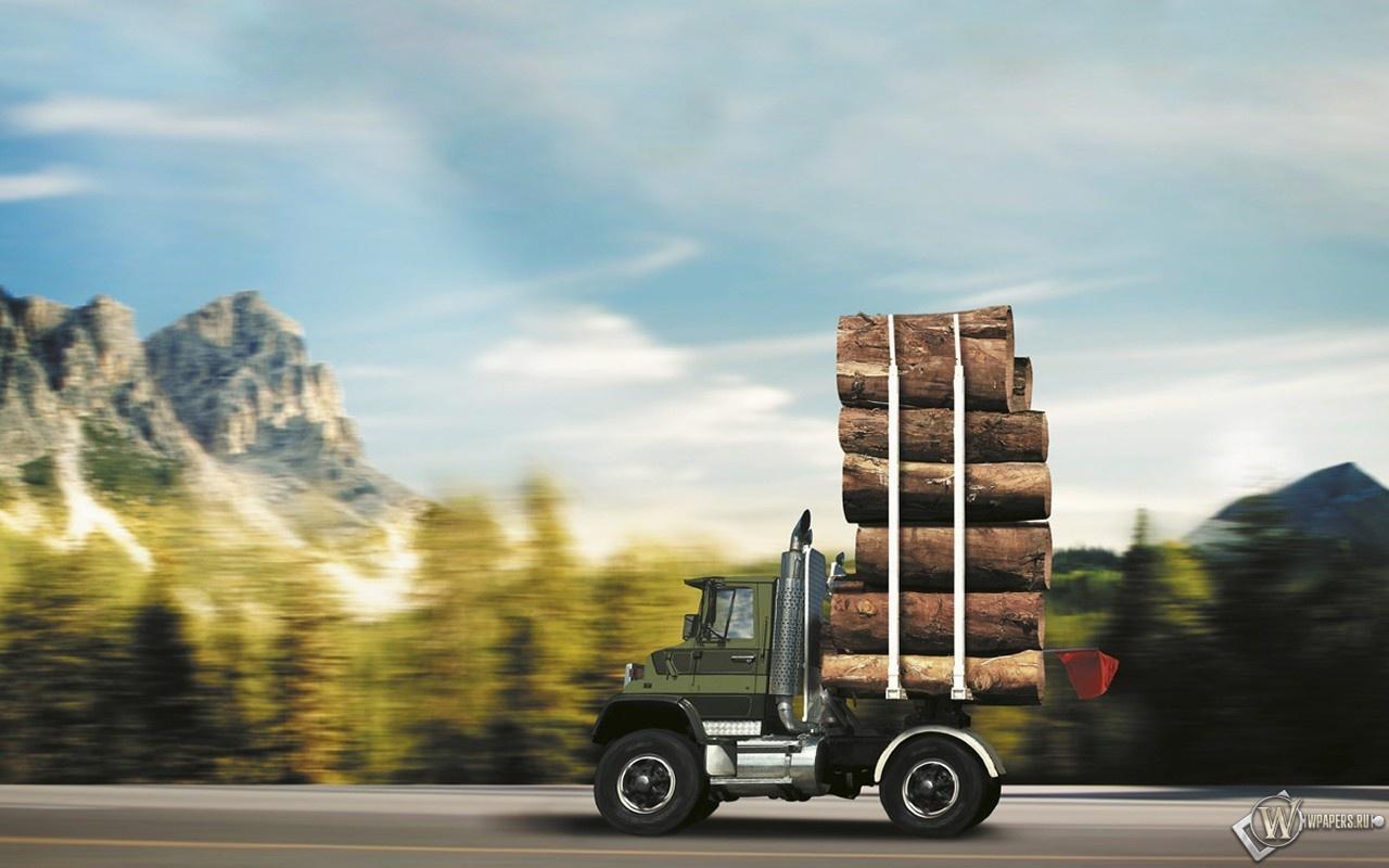 Лесовоз 1280x800