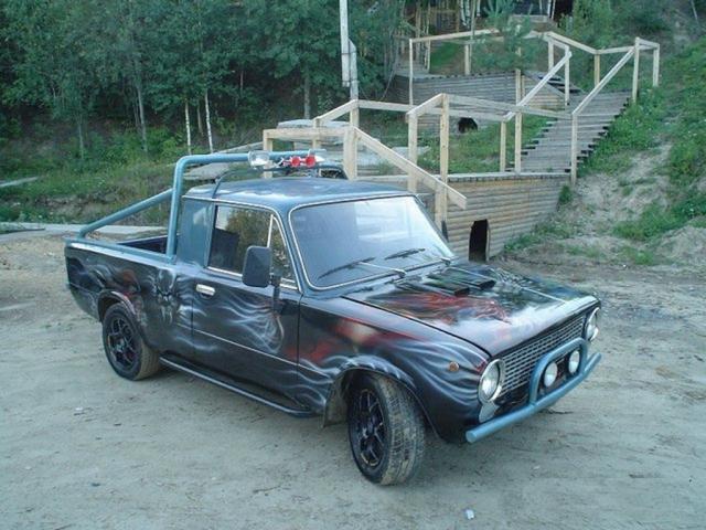 Тюнингованый ВАЗ-2101-пикап