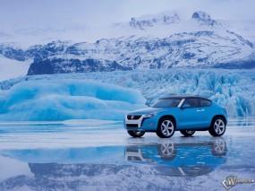 Обои VolksWagen: Зима, Лёд, Снег, Volkswagen, Фольксваген, VolksWagen