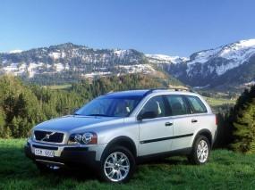 Обои Volvo XC90 2003: Горы, Трава, Volvo XC90, Volvo