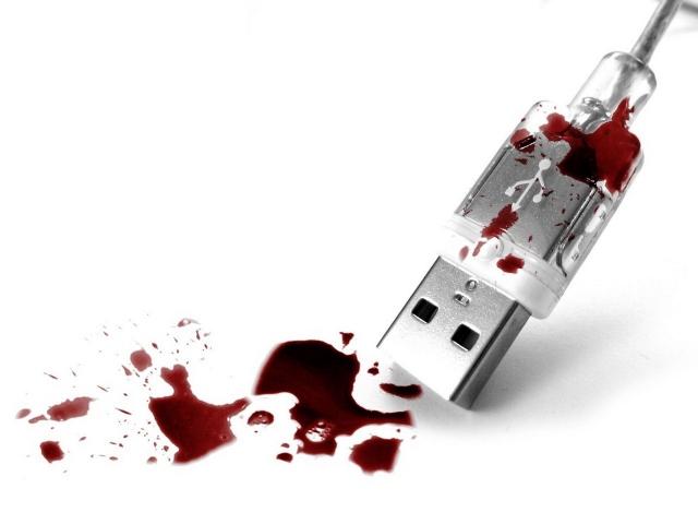 Кровавый USB