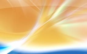 Обои Windows 7: Абстракция, Оранжевый, Блики, Компьютерные