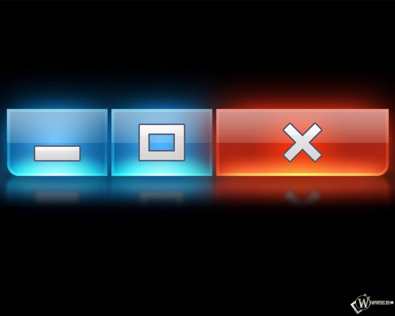 Кнопки Windows 1280x1024