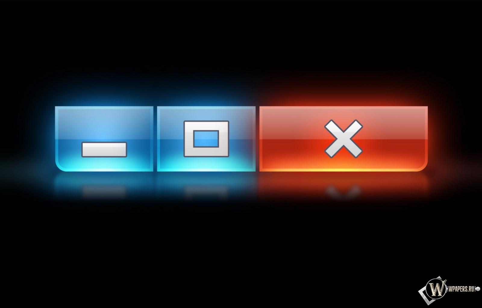 Кнопки Windows 1600x1024