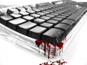 Обои Kill All: Кровь, Клавиатура, Компьютерные