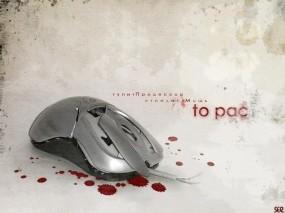 Обои Мышь: Кровь, Мышь, Юмор, Прикол, Компьютерные