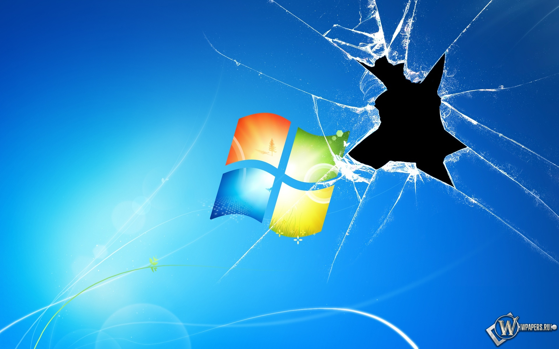 Разбитый экран windows 1920x1200