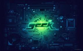 Обои Geek: Печатная плата, Зелёный, Geek, Hi-Tech, Компьютерные-Фэнтези